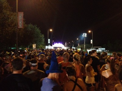 start line at Disney Marathon