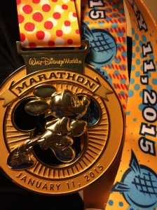 Disney World Marathon medal 2015