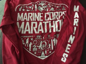 Marine Corps Marathon race shirt