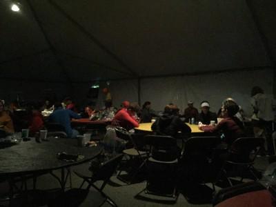 Runner's World Challenge tent