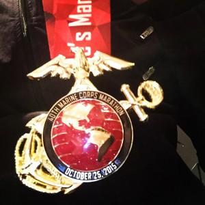 2015 Marine Corps Marathon medal