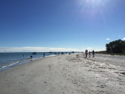 Sanibel Lighthouse beach view