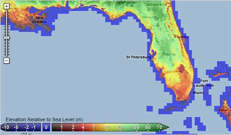 Florida elevation chart