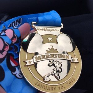 2016 Disney World Marathon medal