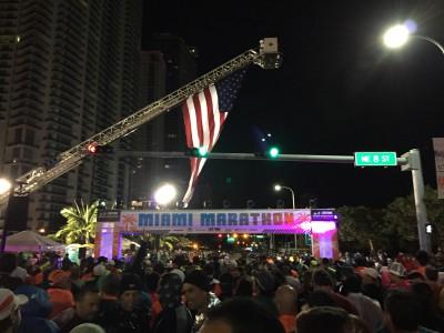 Miami Marathon start line