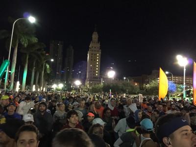 start line Miami Marathon