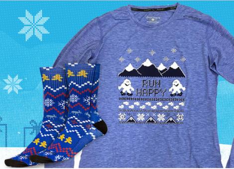 """ugly sweater"" tech shirt"